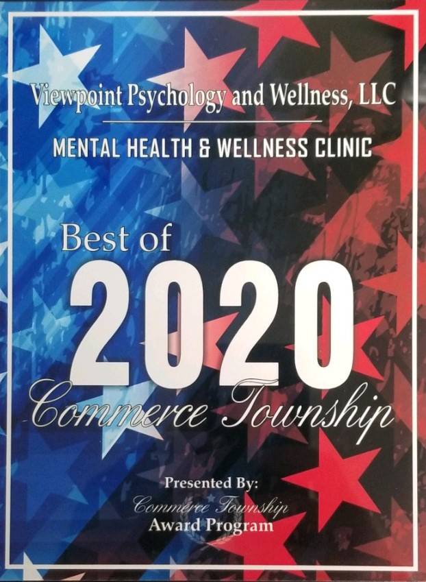 Psychology and Therapy Services in Commerce, MI |  Viewpoint Psychology & Wellness  - Award